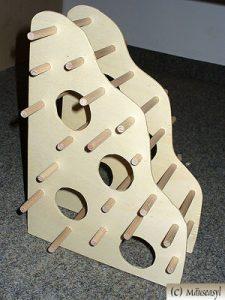 Mäuseklettergerüst aus Holz