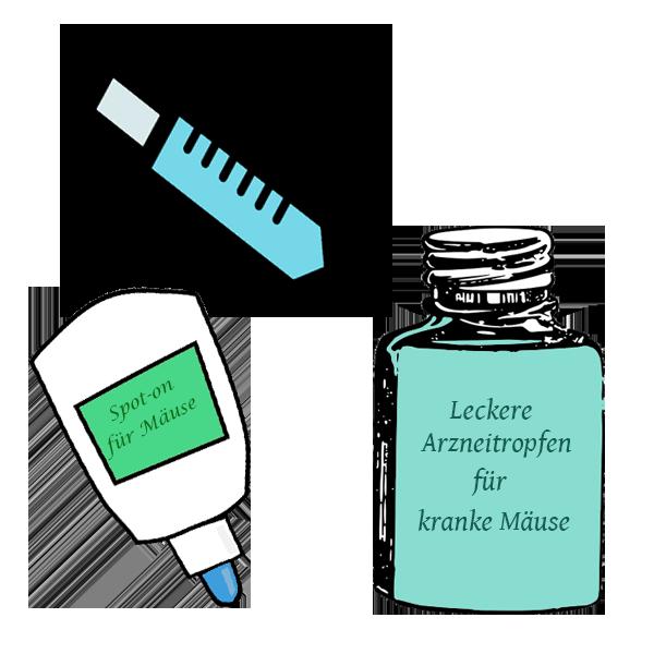 Medikament als Spritze, orla oder Spot-on
