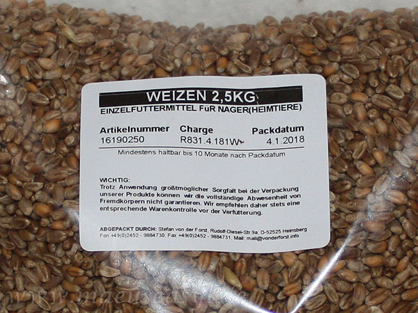 Etikett Weizen