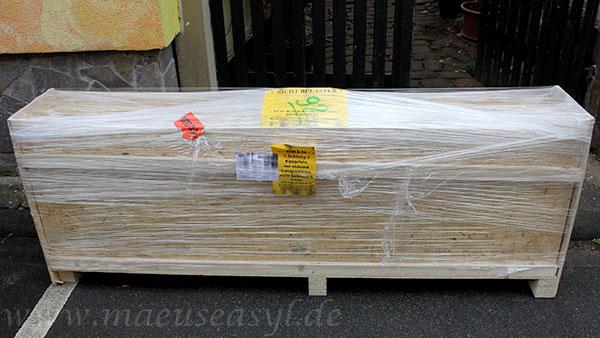 OSB-Terrarium 200x60x60cm Lieferung auf Palette