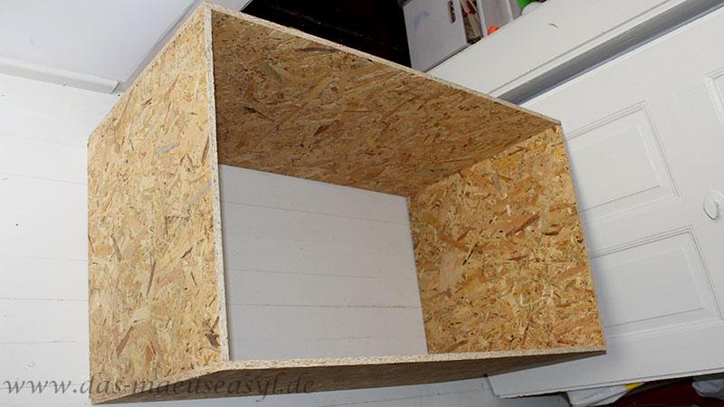 OSB-Terrarium 100x60x60 Aufbau