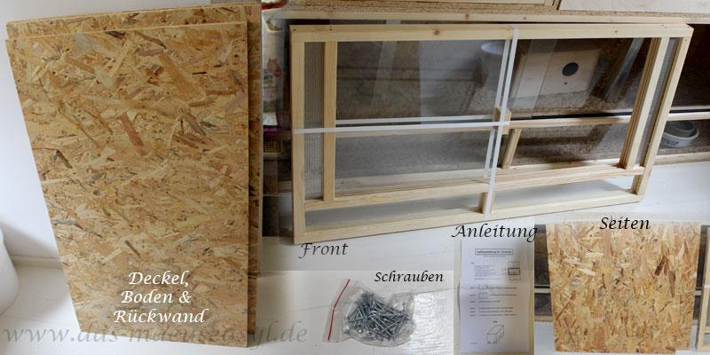 OSB-Terrarium 100x60x60 Teile